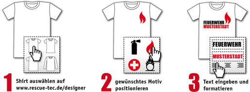 dein individuelles feuerwehr t shirt mit dem shirt. Black Bedroom Furniture Sets. Home Design Ideas