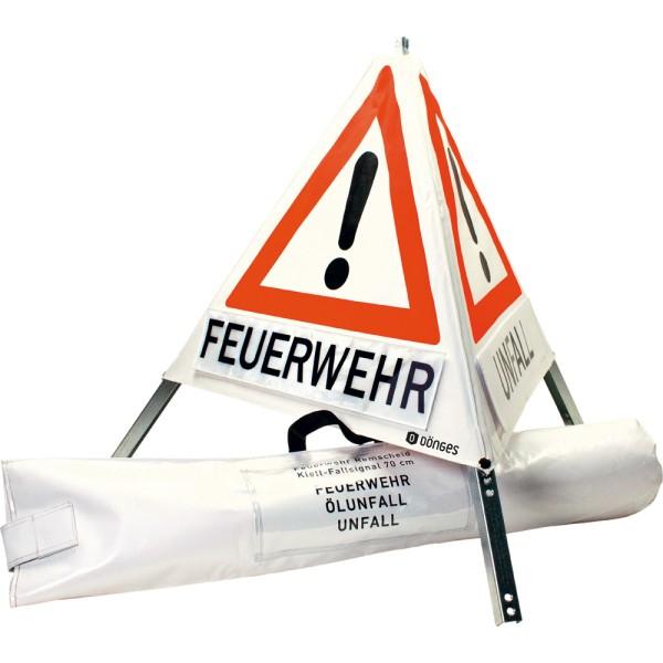 """Faltsignal """"FEUERWEHR"""" """"UNFALL"""" """"ÖLUNFALL"""", 90 cm"""