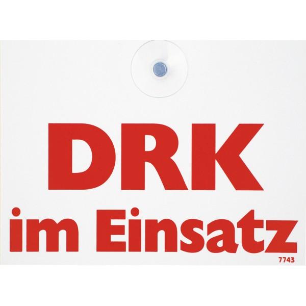"""rescue-tec Innenwarnschild """"DRK im Einsatz"""""""