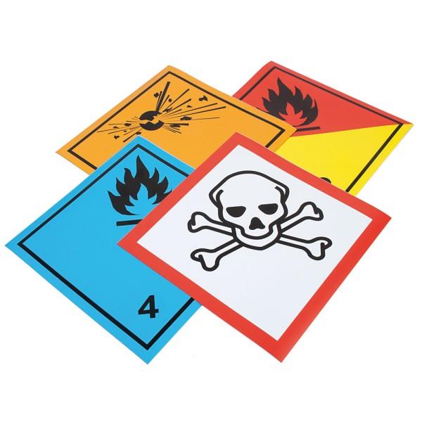 Übungsset Gefahrensymbole, magnetisch