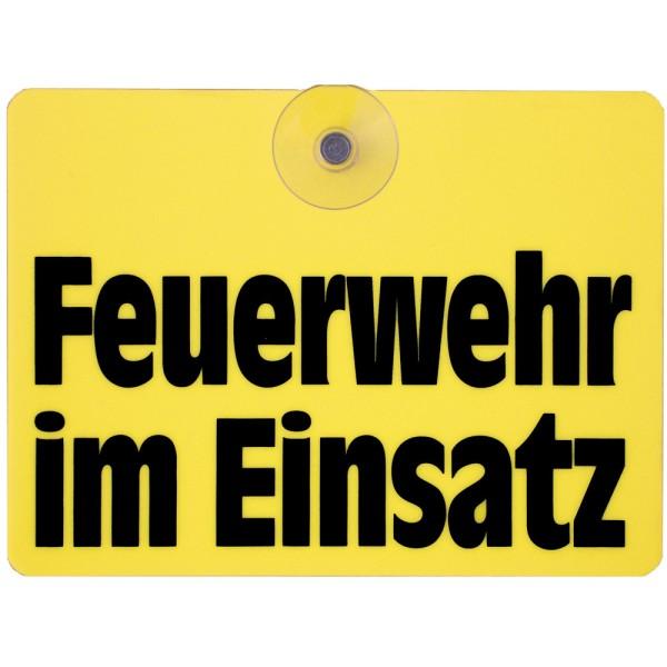 """rescue-tec Innenwarnschild """"Feuerwehr im Einsatz"""""""