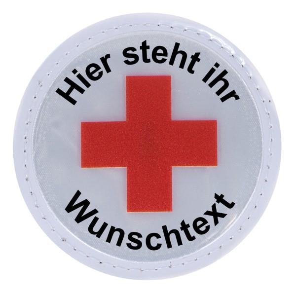 rescue-tec Reflexschild mit rotem Kreuz