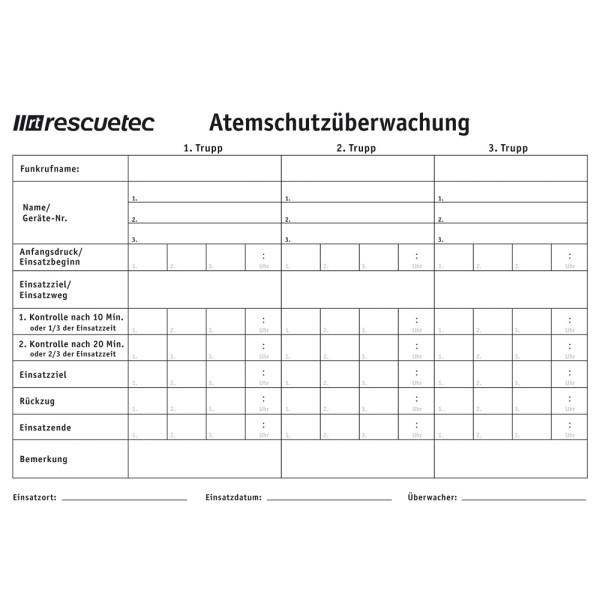 rescue-tec Doku-Block für AÜ-Tafeln