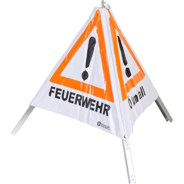 """Faltsignal """"FEUERWEHR"""" """"UNFALL"""" """"ÖLUNFALL"""", 70 cm"""