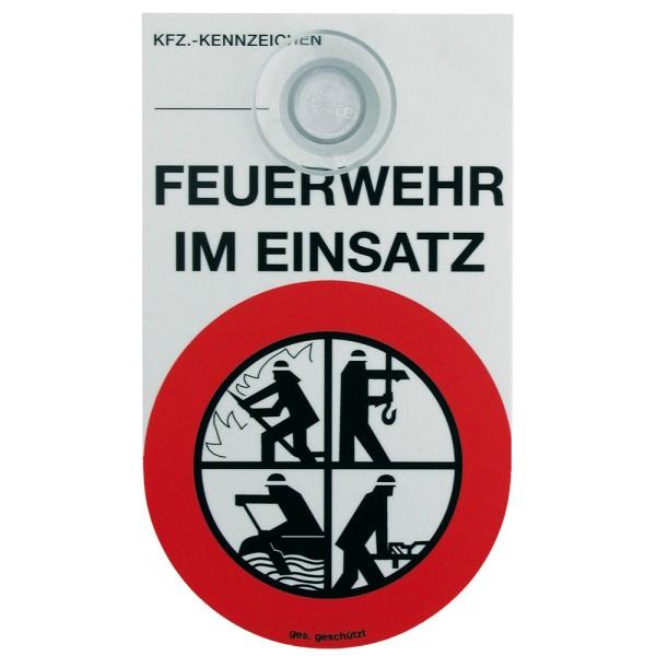 """Kfz-Schild """"FEUERWEHR IM EINSATZ"""""""