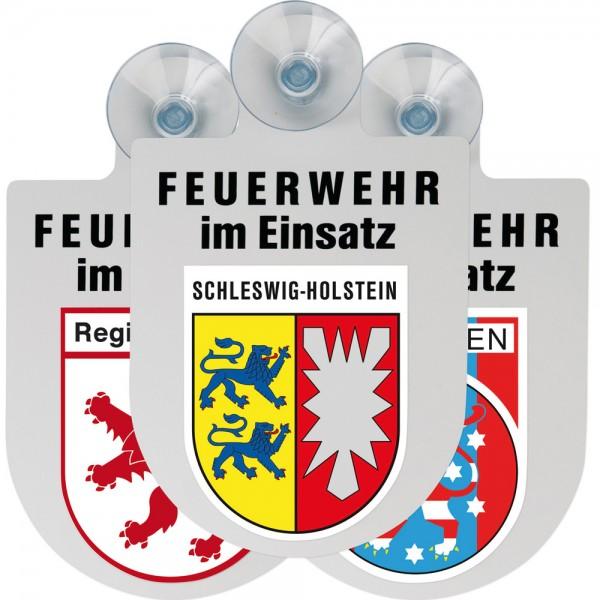 """Kfz-Alu-Schild """"FEUERWEHR IM EINSATZ"""""""
