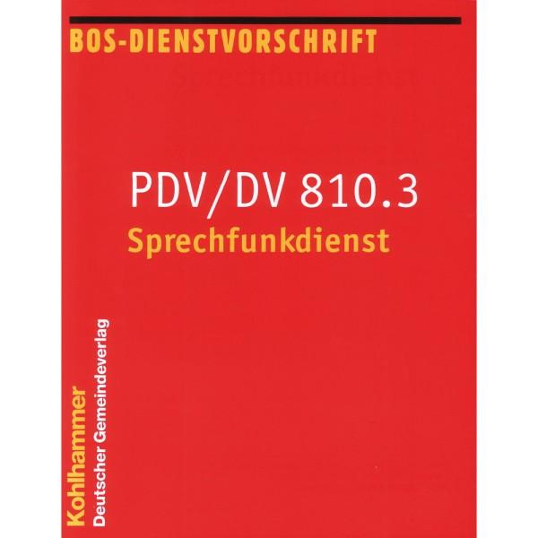 PDV/DV810.3 Sprechfunkdienst